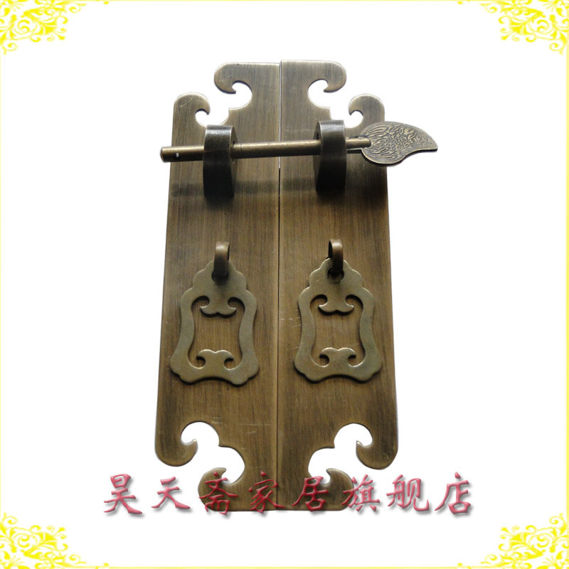 [Haotian vegetarian] antique furniture copper fittings / cabinet handle / door handle / wardrobe handle HTC-127 [haotian vegetarian] antique copper handle wardrobe cupboard furniture bookcases handle htc 278 lotus trumpet section