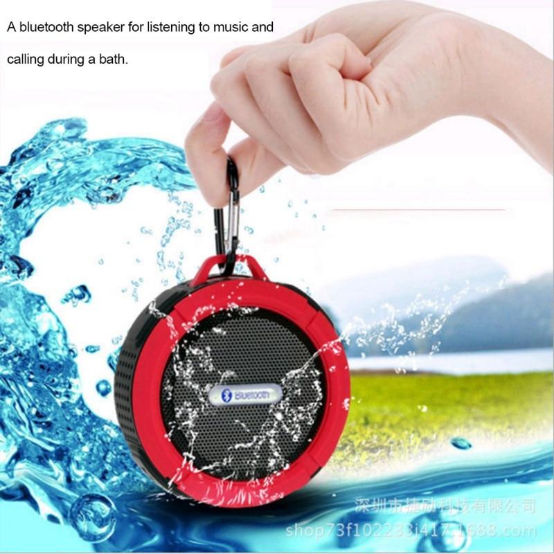 IPX6 Waterproof Outdoor Wireless Bluetooth 4.0 Stereo Portable Speaker Built-in mic Shock Resistance Speaker with Bass