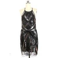 SEPTDEER SEPTDEER New SExy Spaghetti Strap Heavy Sequin Handmade Beaded 1920s Gatsby Dress KR2009B