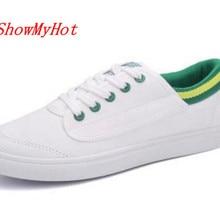 Showmyhot новая тенденция Для мужчин; парусиновая обувь Для мужчин повседневная обувь Демисезонный человека Обувь Zapatillas Hombre Slip-On размеры 39–44