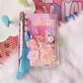 Корейский Kawaii A6 Дневник со свободными листами  дневник  ручная книга для этого  памятка для детей и девочек  подарок на день рождения
