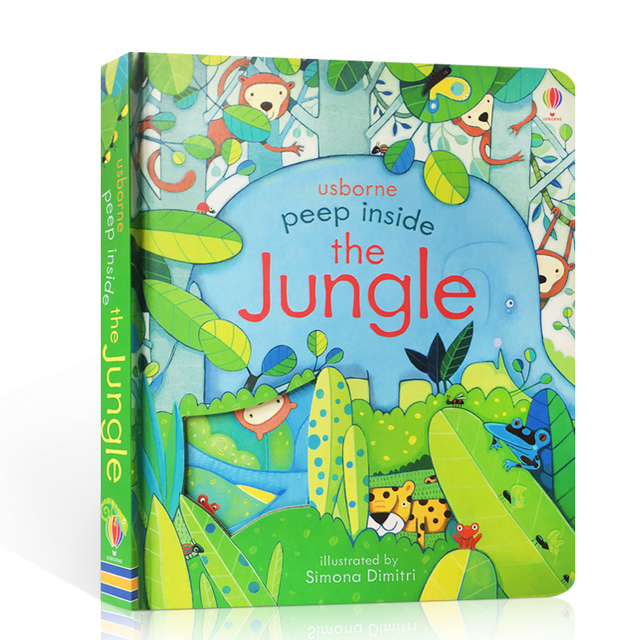 Original inglés Educación libros ilustrados Peep el interior de la selva para el bebé regalo de la primera infancia los niños la lectura de libros