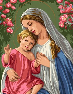 Hot selling New Frameless Oil Painting Virgin Mary Jesus Picture Painting By Numbers DIY Digital Canvas Oil Painting Wall Art