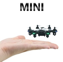 MINI wireless RC drone HJ812 2.4G 6 rotor 3D stunt roll anti fall pocket remote control helicopter kidsRC toy model best gift