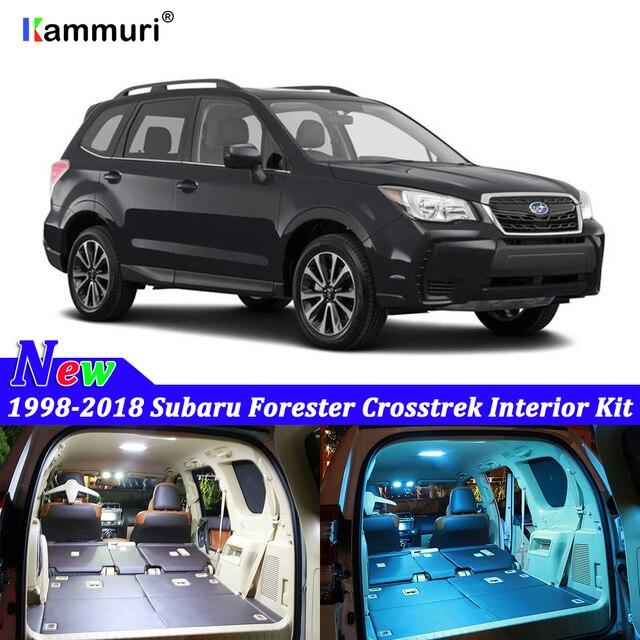 8X Canbus Error Free White Interior LED Light Package Kit for 1998 - 2017 2018 2019 Subaru Forester Crosstrek led Interior Light