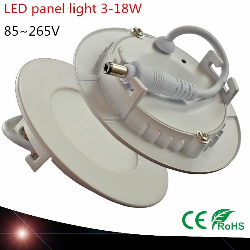 Willensstark 50x Dhl Ultradünne Led-panel Licht Smd2835 3 Watt 4 Watt 6 Watt 9 Watt 12 Watt 15 Watt 18 Watt Ac 85-265 V Runde Beleuchtung Led Downlight Licht & Beleuchtung