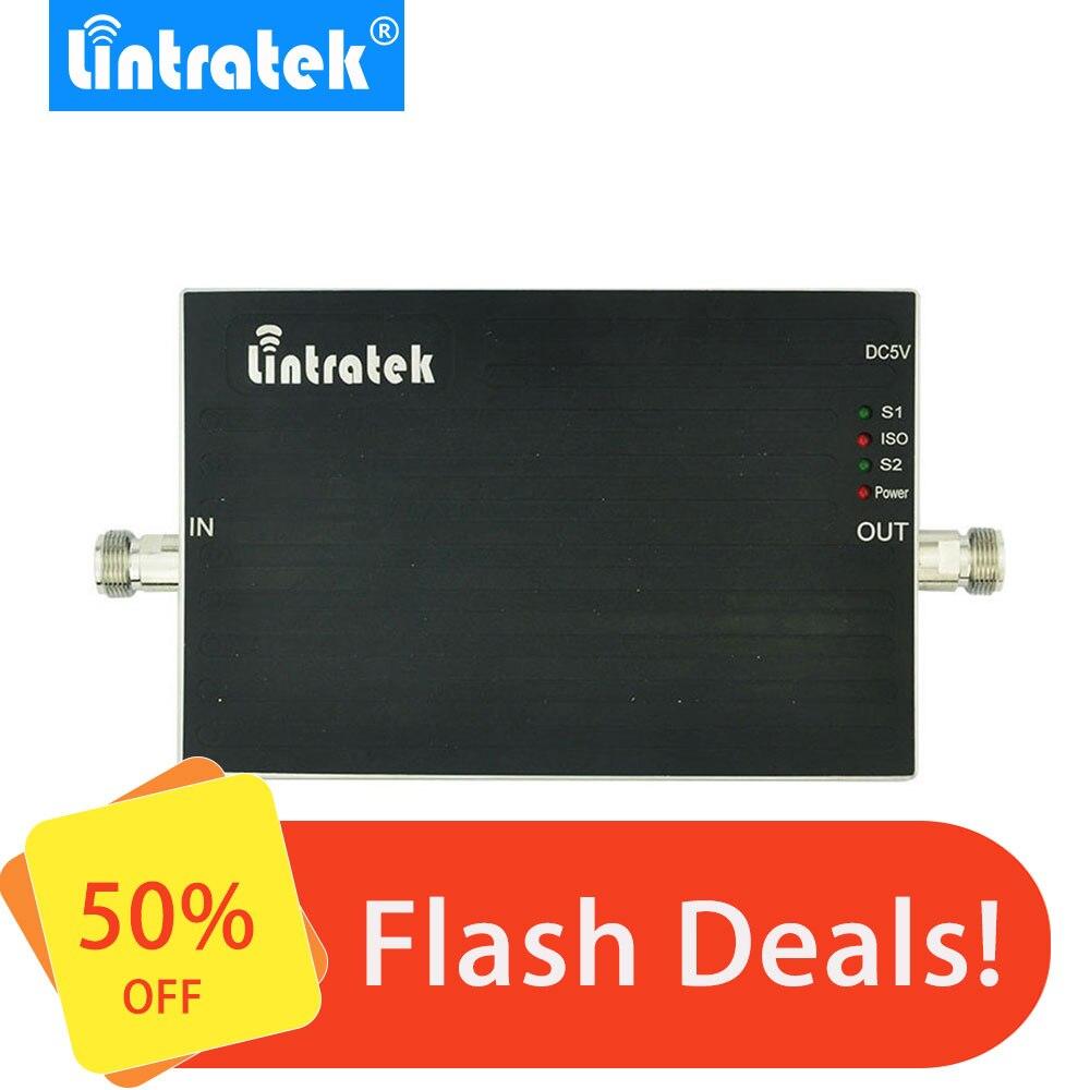Lintratek 900 1800 Booster 65dB GSM Repeater 900 1800 DCS Dual Band Signal Booster Mini Size AGC Dual Band Signal Amplifier #50