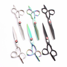 C9017 5.5 Japan 440C Customized Brand Professional Hairdressers Scissors Cutting Shears Thinning Salon Hair