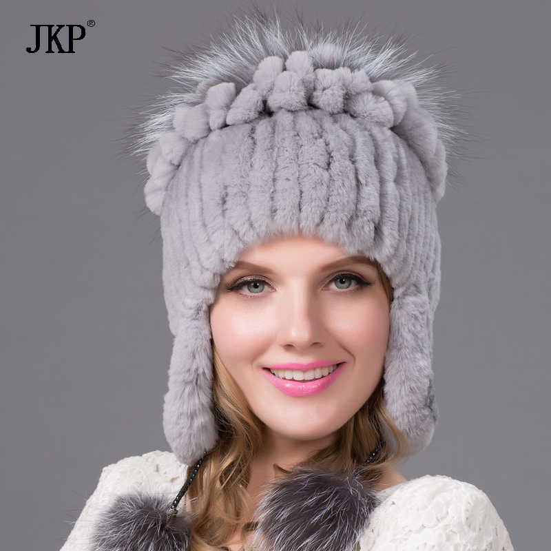 Detail Feedback Questions about women natural Rex rabbit fur hat winter  warm thick knit real fox cap female new free shippingTHY 38 on  Aliexpress.com ... 99bb19066d6