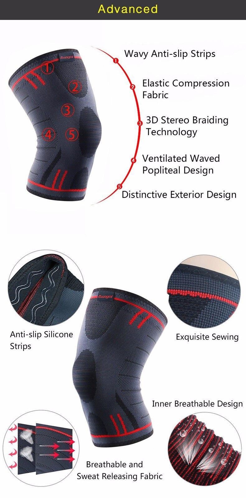 HTB1GloGOpXXXXcdXXXXq6xXFXXXe - Kuangmi 1 PC Compression Knee Sleeve Basketball Knee Pads Knee Support