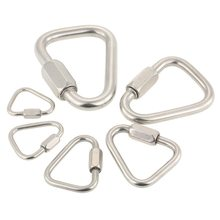 NEW Hanging Hook D Buckle Carabiner Rock Climbing Buckle Equipment Carabiner Quick Link Lock Rope Buckle Camping Hiking цена