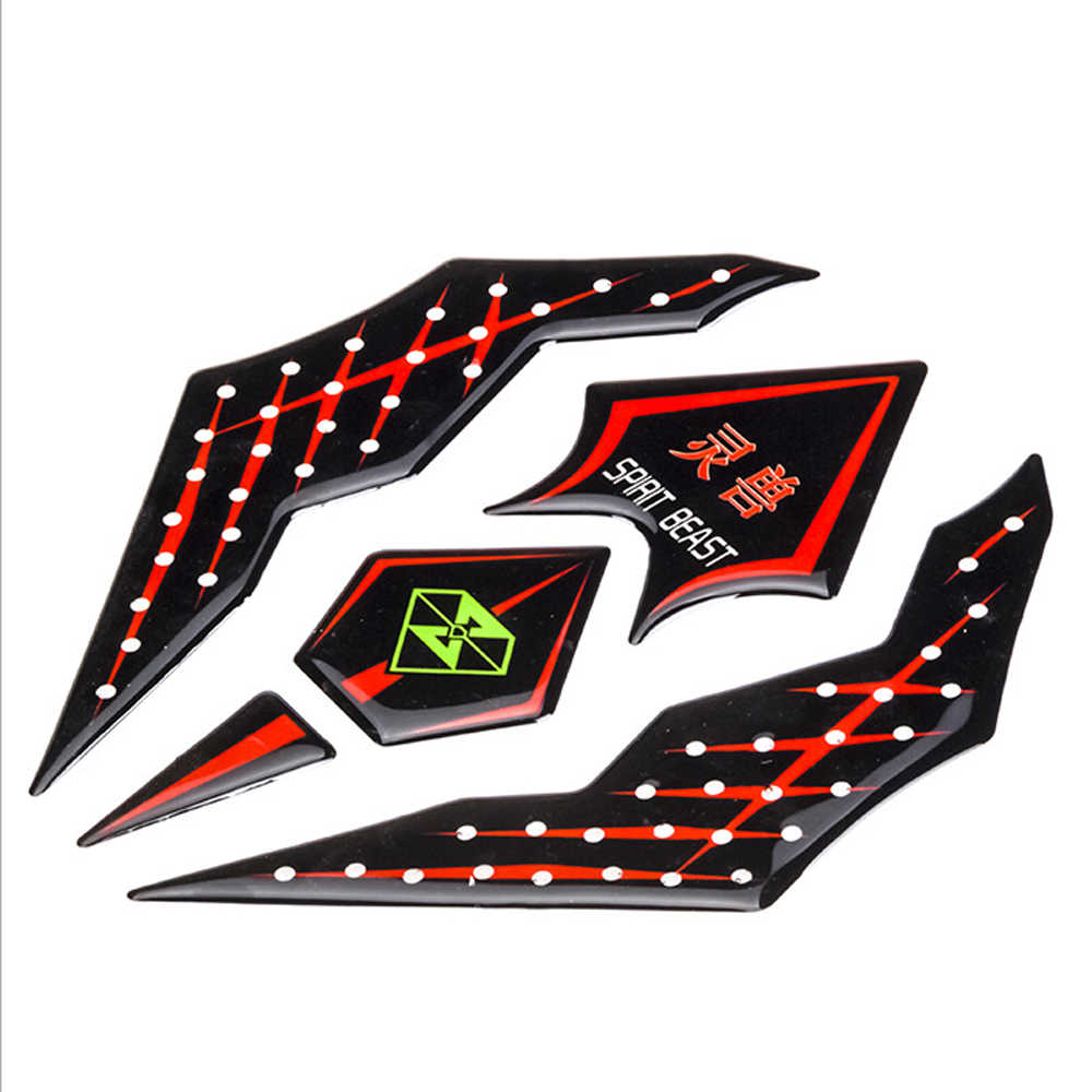 Reflective 3d motorcycle sticker moto gas fuel tank protector pad cover decoration decals for honda yamaha