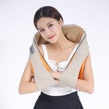 Angelruila Massage Device Electrical Back Neck Shoulder Body Massager U Shape Massage Shawl Home Car Infrared 3D Massagem