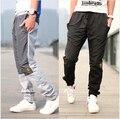 2016 M-3XL Los Nuevos Hombres Al Aire Libre Deportes Pantalones Pantalones Bordados de Moda Espesar Pantalones Deportivos Pantalones de Los Hombres Basculador Pantalones