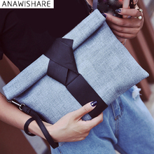 ANAWISHARE Women Day Clutches Bags Bow Leather Crossbody Bag Messenger Bags Ladies Envelope Evening Party Bag Designer Handbags