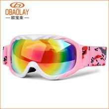 Children Snow Ski Goggles Anti Fog UV400 Double Lens Winter Snowboard Glasses Googles for Boys Girls Ski Goggles