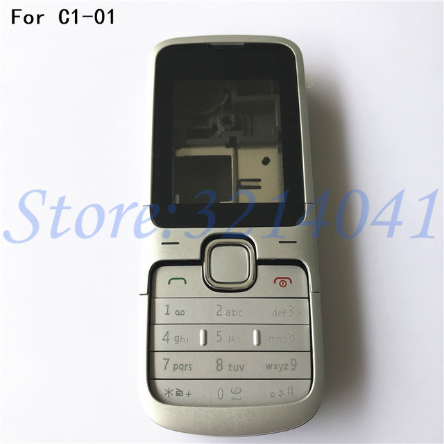 new style 06117 ada94 US $7.3 5% OFF New Full Housing Case Cover For Nokia C1 01 Battery Cover  Housing case With English Keyboard-in Mobile Phone Housings from Cellphones  & ...