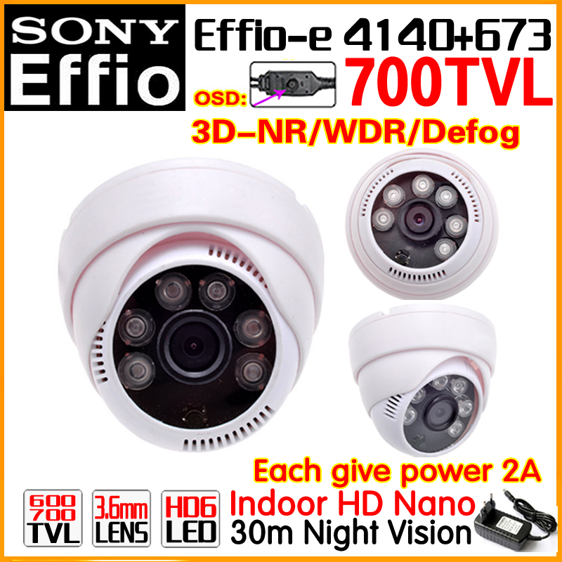 Buy Give 2APower!Nano HD 1/3Sony Effio ccd Real 700tvl Color cctv camera Indoor 24LED Nightvison have osd meun WDR Wide Analog