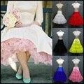 Em Estoque Babados Underskirt Anáguas Coloridas Branco Rosa Vermelho Amarelo Azul 1950 s Vintage Tulle Saia TuTu Para Vestidos de Noiva