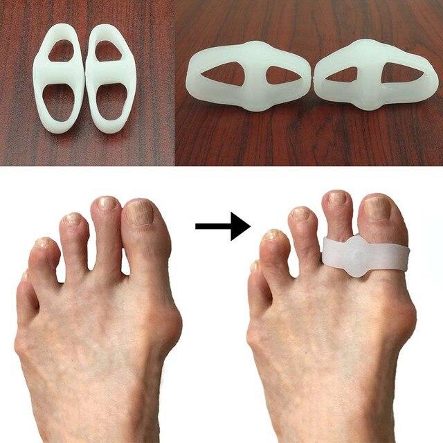Výsledok vyhľadávania obrázkov pre dopyt 1 pcs 2 Hole Feet Foot Care Gel Toe Straighteners