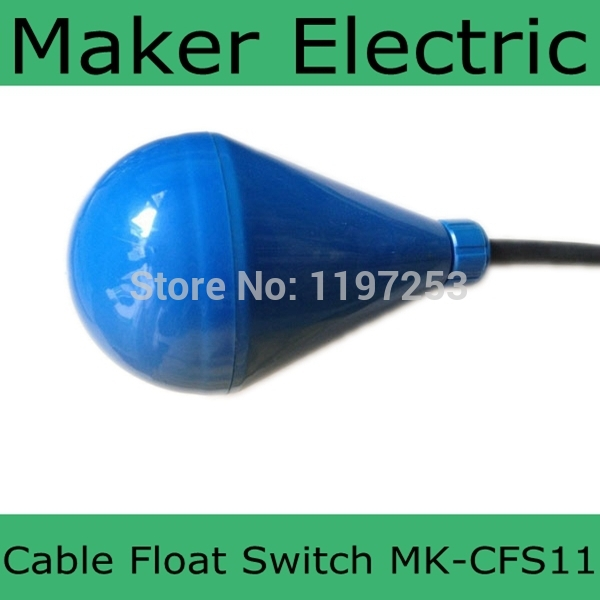 float level switch MK-CFS11,Cable Float Switch Liquid Fluid Water Pump Level NO/NC Controller Sensor FREE SHIPPING 4a 8a level float switch pp water level control for water pump water tower tank normally closed