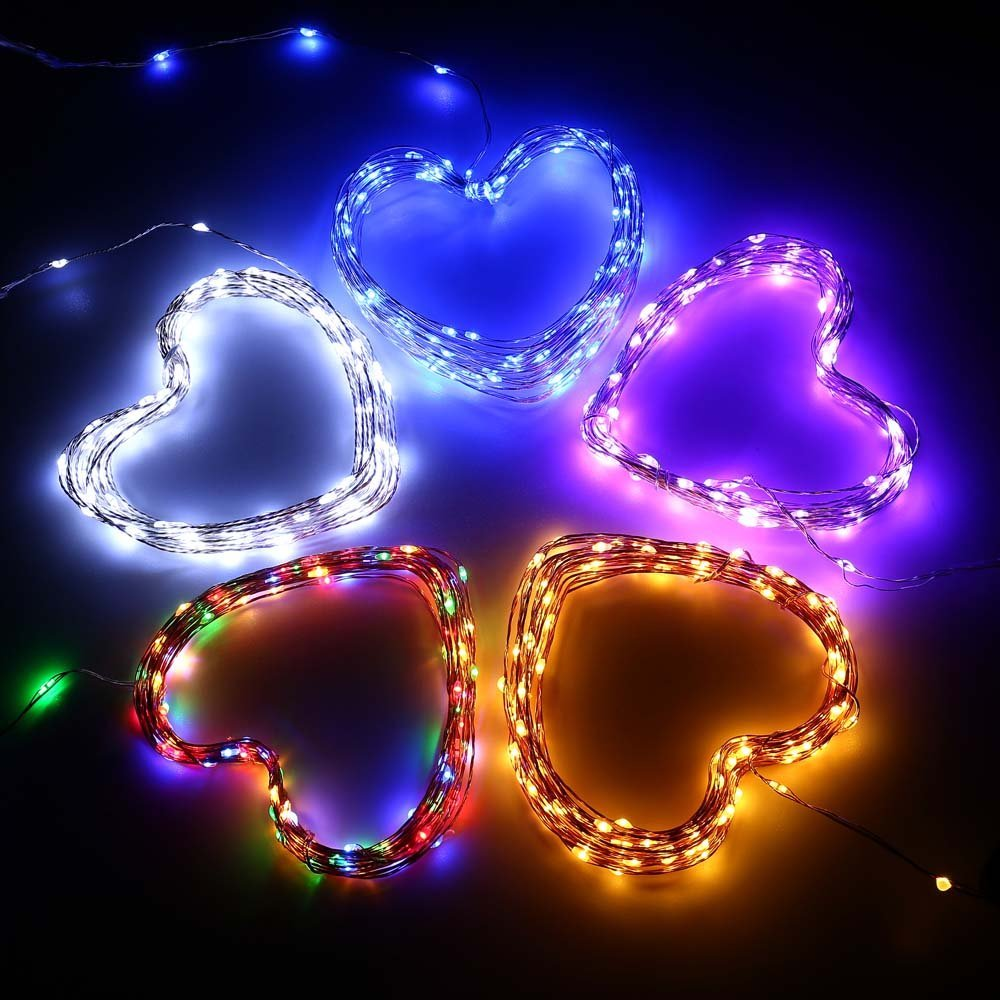 2pcs string lights micro 100 leds super bright led rope lights 2pcs string lights micro 100 leds super bright led rope lights battery operated long thin string copper for christmas home in lighting strings from lights mozeypictures Image collections