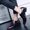 Luxury Brand Мужчины Обувь мужская Квартиры Обувь Патент Мужская Кожаная Обувь Повседневная Обувь Оксфорд Для Мужчин Новая Мода