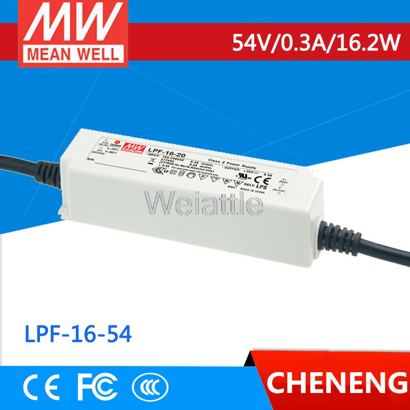 цена на MEAN WELL original LPF-16-54 54V 0.3A meanwell LPF-16 54V 16.2W Single Output LED Switching Power Supply