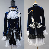 Black Butler Kuroshitsuji Ciel Phantomhive Cosplay Costume Dress Custom Made For Men Halloween Carnival Costumes