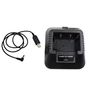 Image 5 - USB 충전기 어댑터 Baofeng UV 5R DM 5R BF F8 + BF F8HP 햄 워키 토키 유연한 입력 솔루션