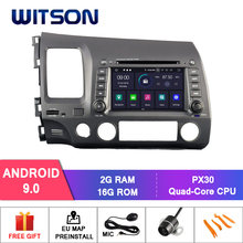 WITSON Android 9,0 IPS HD pantalla para HONDA CIVIC 2006-2011 coche DVD estéreo 4 GB RAM + 32 GB FLASH 8 Octa Core + DVR/WIFI + DSP + DAB + OBD(China)