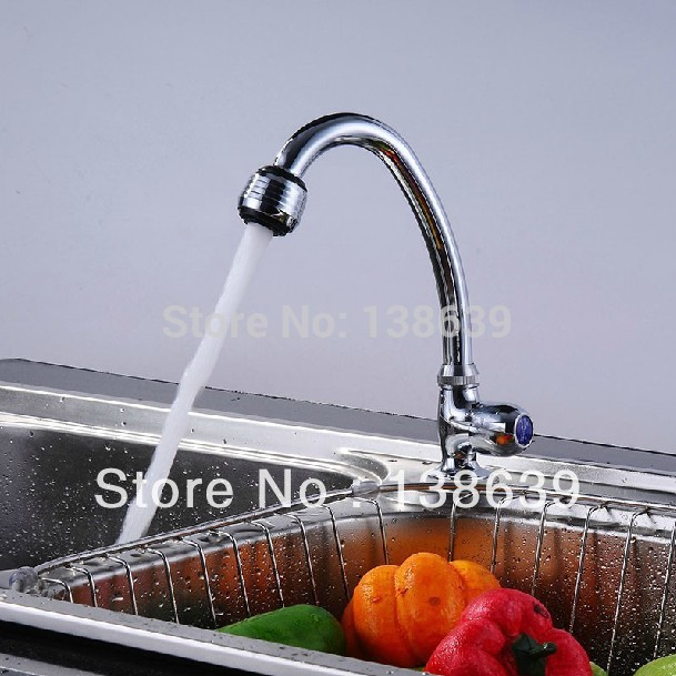 Free Shipping Wholesale And Retail Chrome Solid Brass Water Power Kitchen Faucet Sink Mixer Tap