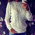 Высокое Качество Мода Повседневная Женщины Одежда женская Сплошной Цвет О-Образным Вырезом С Длинными Рукавами Вязаный Свитер Женщины Мягкие Пуловеры