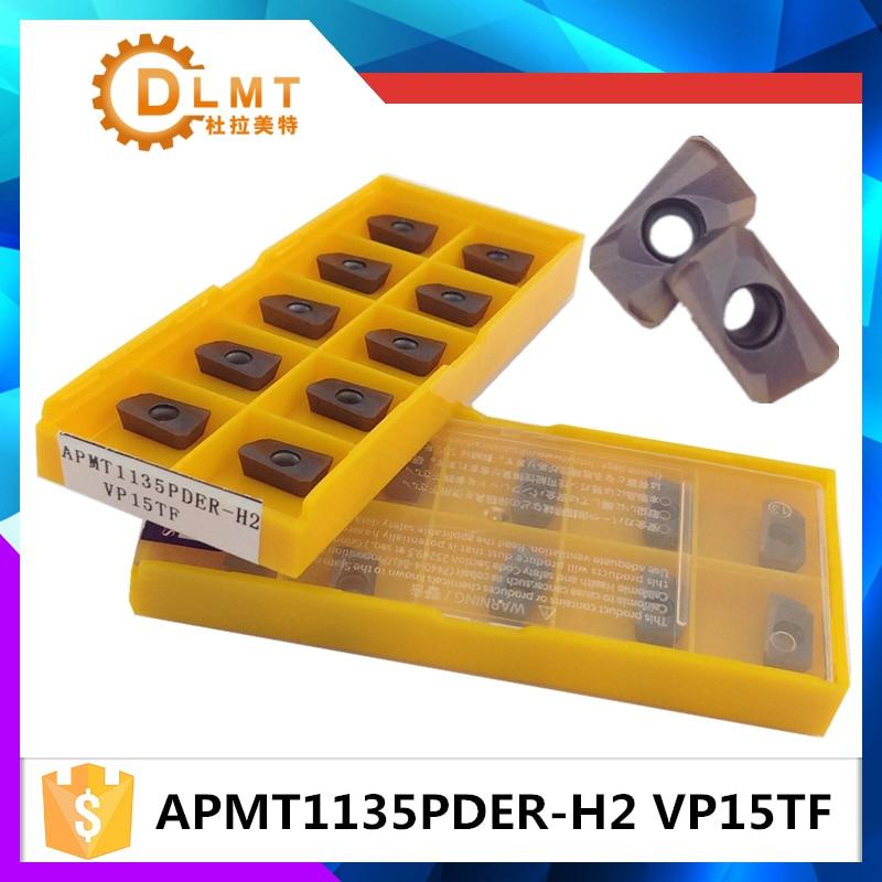 20 pz APMT1135PDER M2 VP15TF INSERISCI Inserti in metallo duro - Macchine utensili e accessori - Fotografia 1