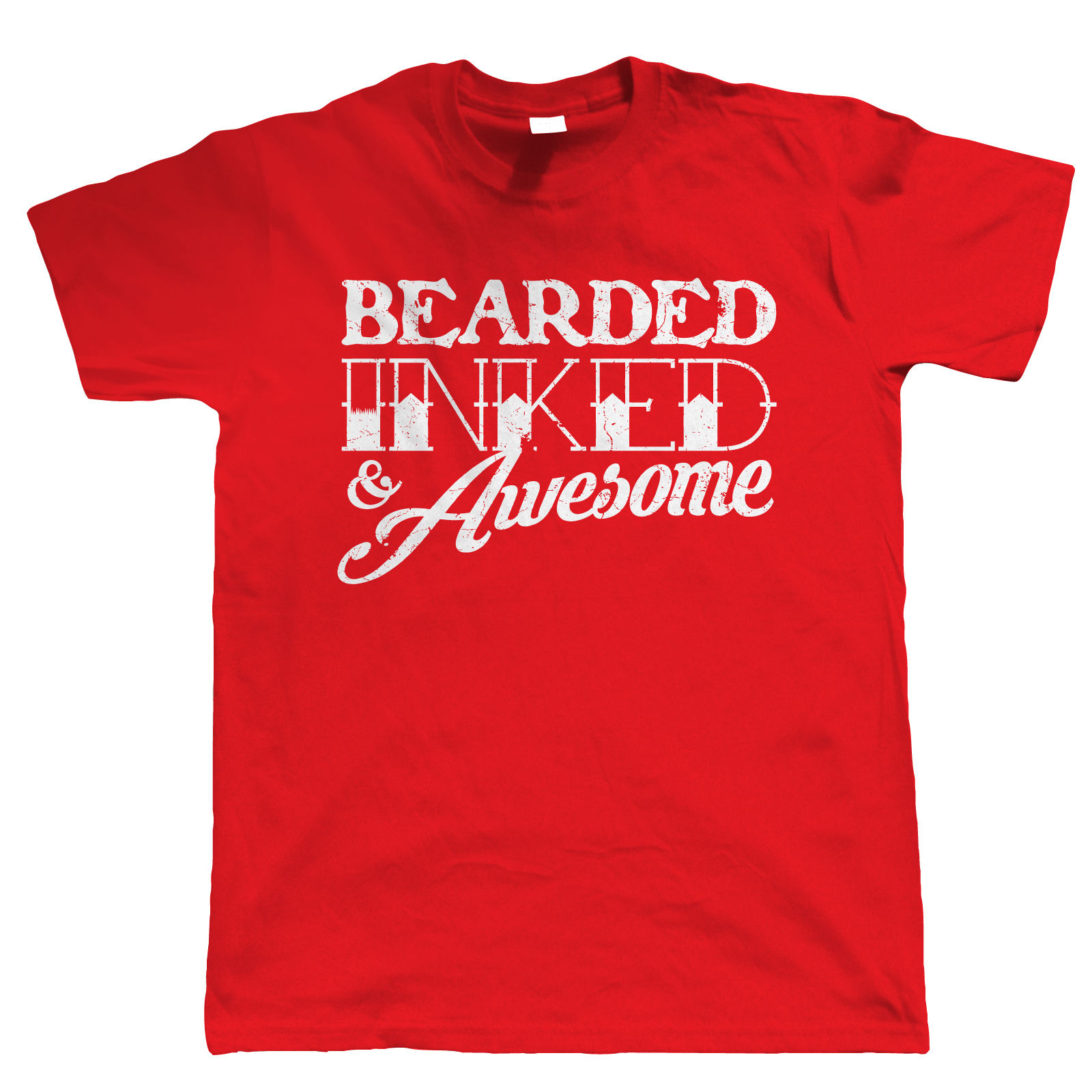 Hipster Tattoo Bearded Inked /& Awesome Mens Funny Beard Hoodie Gift for Dad