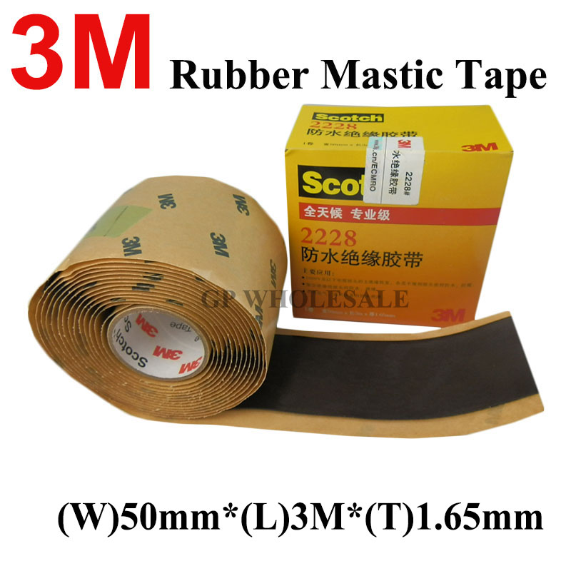 3M Scotch 2228 Rubber Mastic Tape Moisture Sealing Electrical 50mmx3mx1.65mm (2in. x10ft. x,065in.) All Day, Professional ClassOffice Adhesive Tape   -