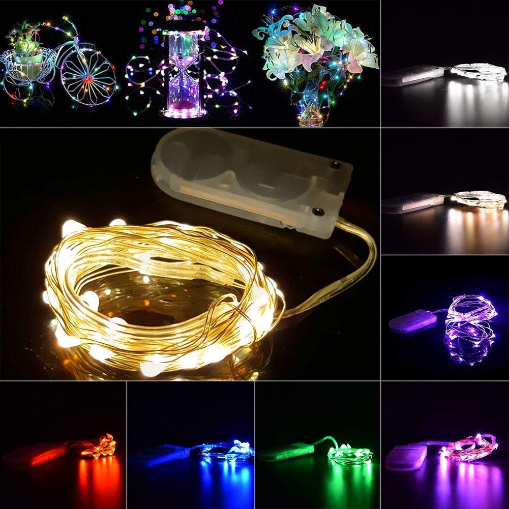 Christmas Lights Outdoor Indoor Mini Fairy Lights 2M 20 LEDs Battery Operated LED String decorations for home wedding 9 Colors