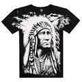Legal Camisa 3D Impresso No Ombro, XXXL homens Casuais Desgaste Pena Indiano Camiseta Famosa Marca 2015 Novos Chegada Criativo Verão