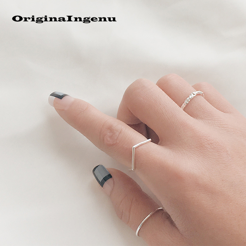 925 Silver Ring Vintage Irregular Jewelry Charm  Bohemia Minimalism Birthday Gift Haut Femme Bague Femme Rings For Women Anillos