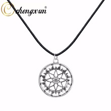 CHENGXUN 1 Pcs Necklace Jewelry Nordic CELTIC ARYAN Pendant Amulet Shield Alatir in the Circle Necklace Ethnic Jewelry