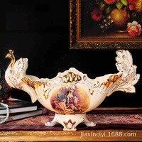 Европейский фарфор роскошь слоновой кости фрукты ретро дворец роскошный дом декоративные керамические украшения