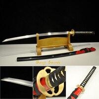 Handmade Full Tang Japanese Samurai Sword 1060 high Carbon Steel Real Katana Sharp Edge apple tsuba