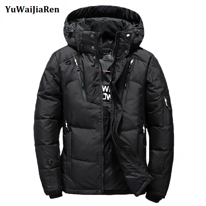 YuWaiJiaRen 2017 New Arrival Top Quality Warm Men's Jackets Windproof Casual Outerwear Coats Men Winter Parkas