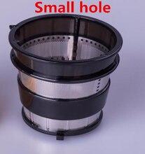 Lento juicer hurom liquidificador peças de reposição, filtro líquido do extrator de suco pequeno buraco preto, HU 500DG,HU 100PLUS peças de reposição