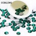 CCBLING ss3-Esmeralda ss30 Apartamento de Volta Prego 3d Art decorações de cristal) não Cola Hot Fix em strass para unhas de pedra do grânulo