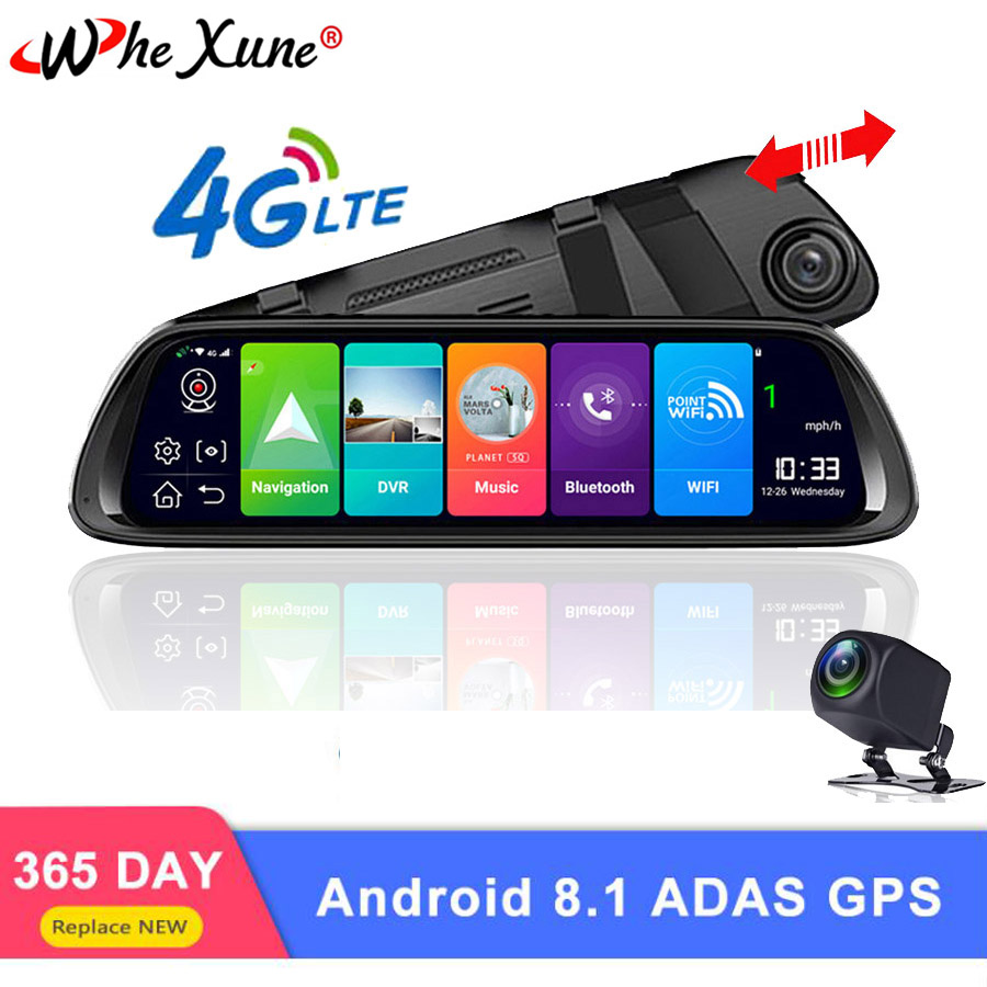 WHEXUNE 4G Android 8.1 Car DVR 10