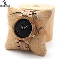 BOBO BIRD  мужские часы  Зебра  дерево  кварцевые часы со светящимися стрелками  полностью деревянный ремешок в подарочной коробке  индивидуальн...