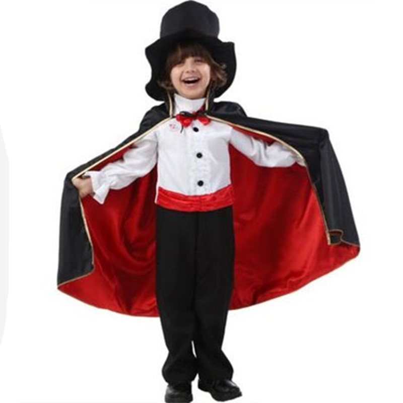 magic costume for children carnival costume halloween magician costume child performance clothing