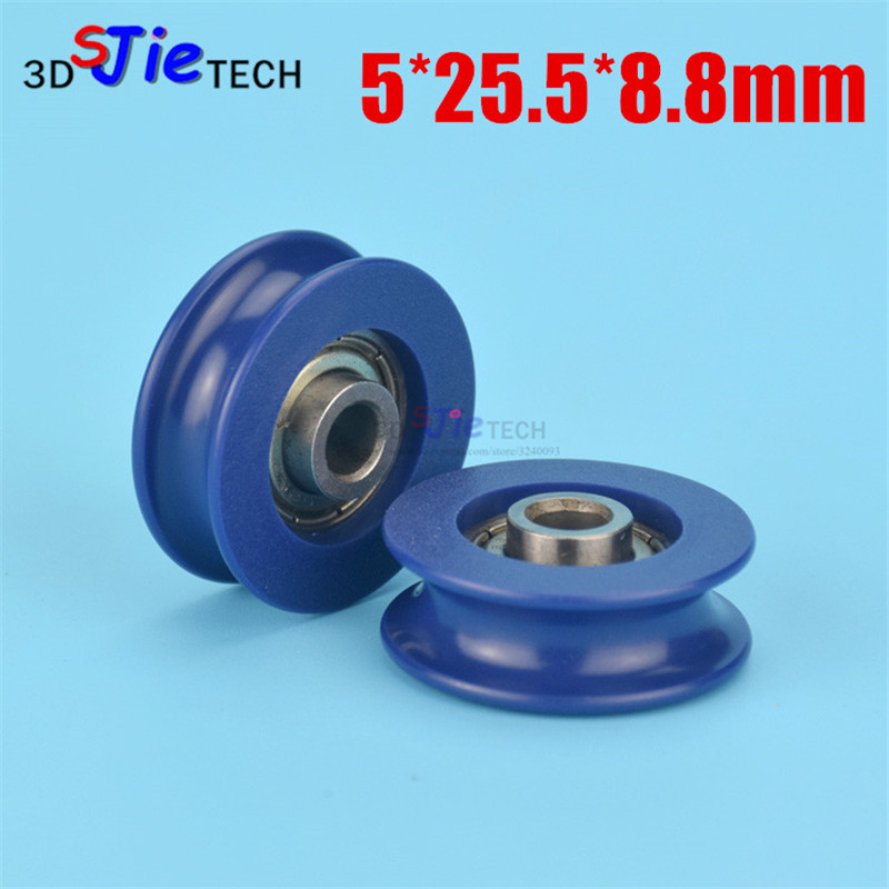 6*27*9 nylon rubber embedded bearing, small wheel, U groove wheel ...