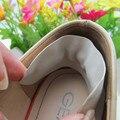 Piel de cerdo de la plantilla del talón del pie etiqueta insertos media yarda talón dolor and crack alivio pasta en tacones calzado cómodo desgaste resistente